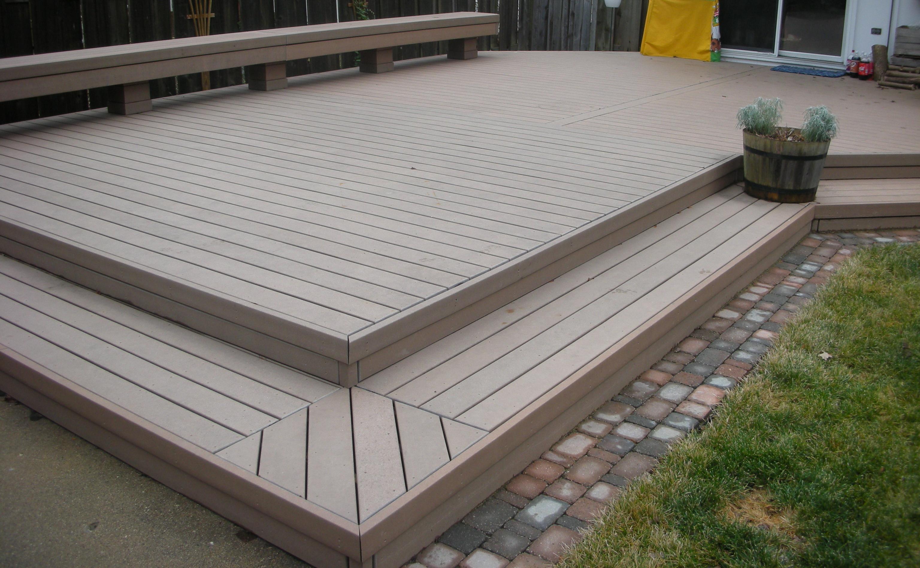 Trex deck ehrlich construction for Garden decking composite